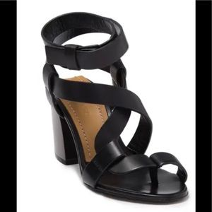 TOM FORD block heel leather sandals 36